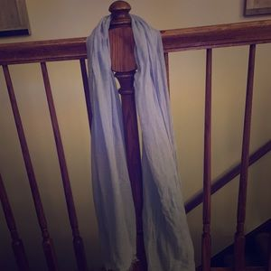 Long Charming Charlie Light Blue Linen Scarf